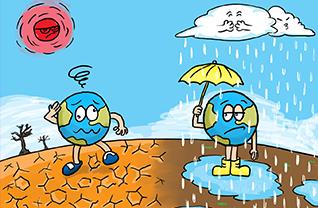 Minh họa chủ đề Biến đổi khí hậu